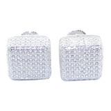 10.5MM Simulated Diamond  Earrings