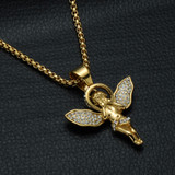 Angel Halo Lab Diamond Hip Hop Pendant