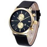 Black Gold Sleek Street Casual Watch