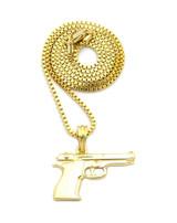 Beretta Pistol Pendant 14k Gold