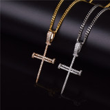 Jesus Iced Out Lab Diamond Nail Cross Pendant