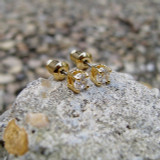 14k Gold 4mm Earrings