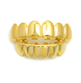 14k Gold Custom Top and Bottom Teeth Hip Hop Grillz Set