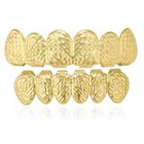 Gold Rush Nugget 14k Custom Top and Bottom 6 Teeth Hip Hop Grillz Combo