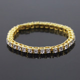 Men's Iced Out Simulated Diamond 1 Row Tennis Chain Bracelets