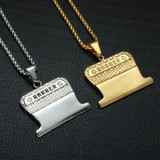Hip Hop Titanium Stainless Steel Haircut Barber Clippers Chain Pendant