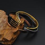 Titanium Stainless Steel Fork Bangle Bracelet