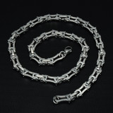 Hip Hop Two Tone Gold Titanium Stainless Steel 55CM Long 6MM Heavy Link Byzantine Chain