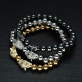 Diamond Eye Beaded Leopard Head Bracelet