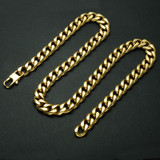 24 INCH 13MM 14k Gold Cuban Link