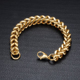 14k Gold Heavy Foxtail Bracelet