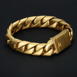 16mm 316L Stainless Steel Curb Cuban Link Bracelet