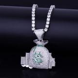 Silver Money Bag Pendant