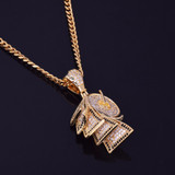 Toilet Paper Monery Roll 24k Gold Hip Hop Chain