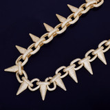 Hip Hop Punk Rivet Choker Style Bling AAA Lab Diamond Hip Hop Chain Necklace