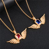 Angel Wings 14k Gold Pendant Chain