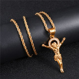 The Son 14k Gold Stainless Steel Jesus
