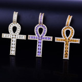 Key Of Life Ancient African Egyptian Lab Diamond Ankh Cross