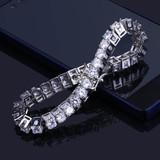 1 Row 14k Gold Silver Lab Diamond Tennis Bracelet