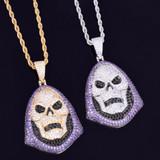 Iced Lab Diamond Skeletor Micro Pave Hip Hop Pendant Chain