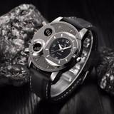 Black Silicone Fashion Mens Casual Luxury Sport Wristwatch