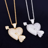 18k Gold .925 Silver Heart Pendant