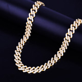 Gold Silver Rose Gold 14mm Miami Cuban Choker Square Link Hip Hop Chain Necklace