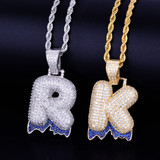 Drip Drop Initial Pendant Chains