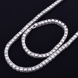 1 Row 5mm Lab Diamond Hip Hop Tennis Chain