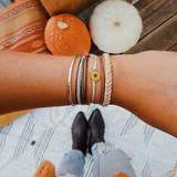 Sunflower Leather Rope Boho Style Reto 5 Piece Bracelet Set
