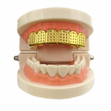 Silver Gold 6 Tooth Diamond Cut Top Hip Hop Grill