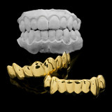 Drip Style Hip Hop 14k Gold Teeth Tooth Mouth Grills Grillz Bottom