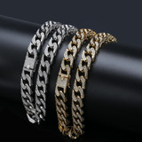 16mm Custom Heavy Full AAA Micro Pave Flooded Ice Thick Chopper Cuban Link Chain