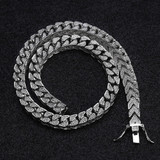 Flooded Ice 8mm Full AAA Micro Pave Stone Square Cuban Link Chain Necklace