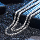 925 Sterling Silver Men's Franco Link Hip Hop Chain Necklace