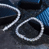 AAA Flooded Iced 4MM 6MM Solid 925 Sterling Silver Tennis Chain Link Ice Bracelet