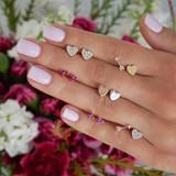 Ladies 12 Pcs Personality Girl Fashion Gold Heart Crystal Arrow Earrings Set