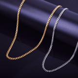 Hip Hop Miami Cuban Link Gold Silver Over Stainless Steel Chain Necklace