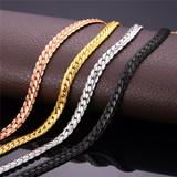 Designer Black Rose Gold Silver Gold 9MM/6MM Miami Cuban Link Hip Hop Chain Necklace