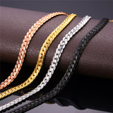 Designer Black Rose Gold Silver Gold 9MM/6MM Miami Cuban Link Hip Hop Chain Necklace