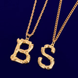 18k Gold Silver Bamboo Letters Hip Hop Initial Chains Pendant Neckalces
