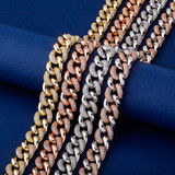Rose Gold 14k 925 Silver 16mm Miami Cuban Link Designer Hip Hop Chain Necklace