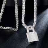 Game On Lock AAA Micro Pave Flooded Ice 18k Gold .925 Silver Hip Hop Pendant