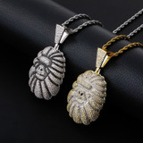 14k Gold .925 Silver Totally Iced Jungle Orangutans Hip Hop Pendant Chain Necklaces