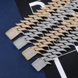 18k Gold Fire Hot Boy Bracelet Chain Set