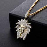Bling Bling AAA Micro Pave The Chief Flooded Ice Hip Hop Pendant Chain Necklace