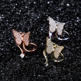 Ladies Flooded Ice Butterfly Fashion Adjustable Finger Nail Rings