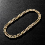 AAA True Micro Pave 13mm Spring Clasp Cuban Link Hip Hop Chain Necklace