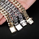 Mens 18MM High Shine Street Wear Spring Clasp New Designer Cuban Link Hip Hop Chain