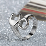 Men's Stainless Steel Mechanic Wrench Bicker Boy Gold Silver Black Rings